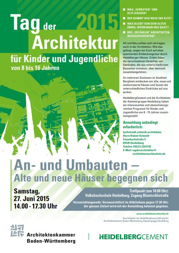 Tag der Architektur für Kinder und Jugendliche 2015 Plakat
